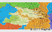 Physical Map of Maramures, political outside