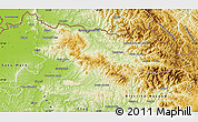 Physical Map of Maramures