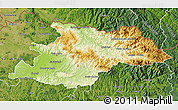 Physical Map of Maramures, satellite outside