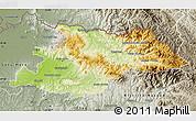 Physical Map of Maramures, semi-desaturated