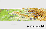 Physical Panoramic Map of Maramures