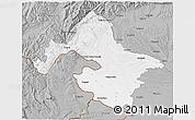 Gray 3D Map of Mehedinti