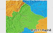 Political 3D Map of Mehedinti