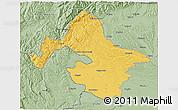 Savanna Style 3D Map of Mehedinti