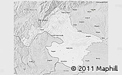Silver Style 3D Map of Mehedinti