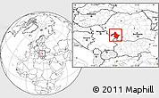 Blank Location Map of Mehedinti