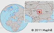 Gray Location Map of Mehedinti