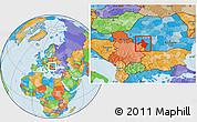 Political Location Map of Mehedinti