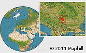 Satellite Location Map of Mehedinti