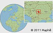 Savanna Style Location Map of Mehedinti