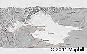 Gray Panoramic Map of Mehedinti