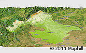 Physical Panoramic Map of Mehedinti, satellite outside