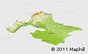 Physical Panoramic Map of Mehedinti, single color outside