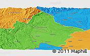 Political Panoramic Map of Mehedinti
