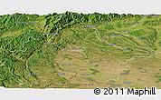Satellite Panoramic Map of Mehedinti