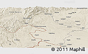 Shaded Relief Panoramic Map of Mehedinti