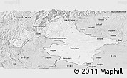 Silver Style Panoramic Map of Mehedinti