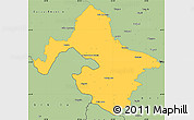 Savanna Style Simple Map of Mehedinti