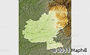 Physical Map of Mures, darken