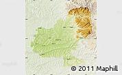 Physical Map of Mures, lighten