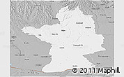 Gray Panoramic Map of Olt