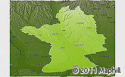 Physical Panoramic Map of Olt, darken