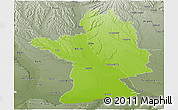 Physical Panoramic Map of Olt, semi-desaturated
