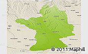 Physical Panoramic Map of Olt, shaded relief outside