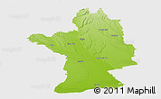 Physical Panoramic Map of Olt, single color outside