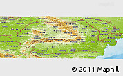 Physical Panoramic Map of Romania