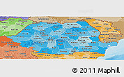 Political Shades Panoramic Map of Romania