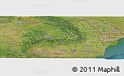Satellite Panoramic Map of Romania