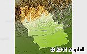 Physical Map of Prahova, darken