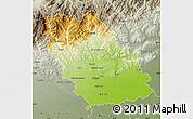 Physical Map of Prahova, semi-desaturated