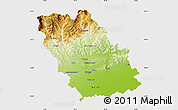 Physical Map of Prahova, single color outside
