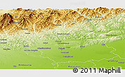Physical Panoramic Map of Prahova