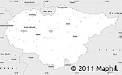 Silver Style Simple Map of Salaj