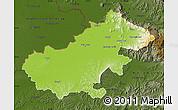 Physical Map of Satu Mare, darken