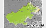 Physical Map of Satu Mare, desaturated