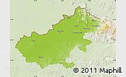 Physical Map of Satu Mare, lighten