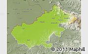 Physical Map of Satu Mare, semi-desaturated