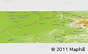 Physical Panoramic Map of Satu Mare