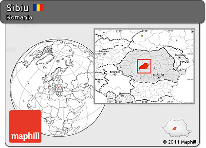 Map of Sibiu