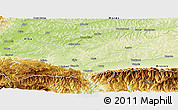 Physical Panoramic Map of Sibiu