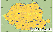 Savanna Style Simple Map of Romania, cropped outside