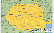 Savanna Style Simple Map of Romania