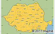 Savanna Style Simple Map of Romania, single color outside