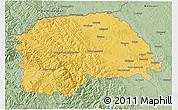 Savanna Style 3D Map of Suceava