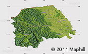 Satellite Map of Suceava, cropped outside