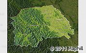 Satellite Map of Suceava, darken